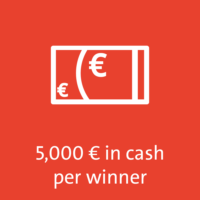 5,000 € in cash per winner